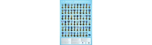 Affiche des médailles de l'ONU