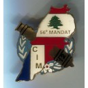 Insigne COLLECTION LIBAN - BROCHE 56eme mandat - 2E RA CIM