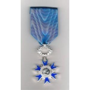 Ordre National du Mérite - Chevalier - Ordonnance -  Bronze  argenté