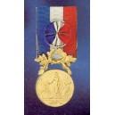 Courage et Dévouement - Classe Or Ordonnance Bronze doré